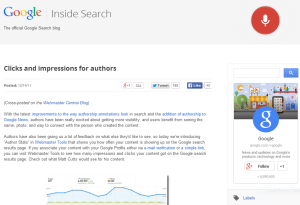 Google Blog Explaining Authorship