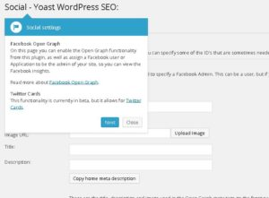 Social Setting of WordPress SEO