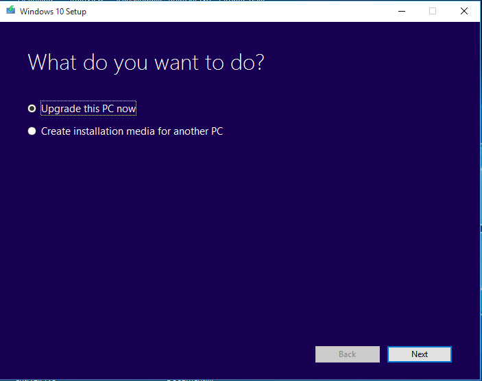 Media Creation tool for Windows 10