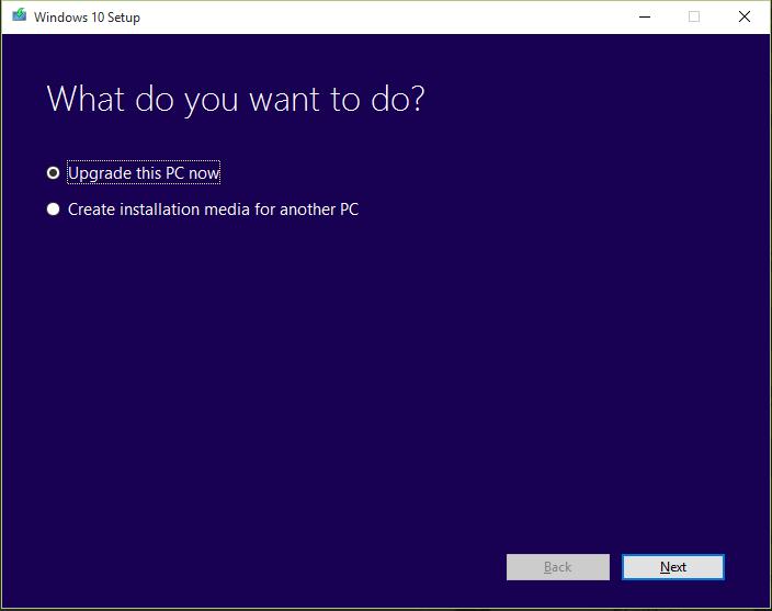 Upgrading to Windows 10