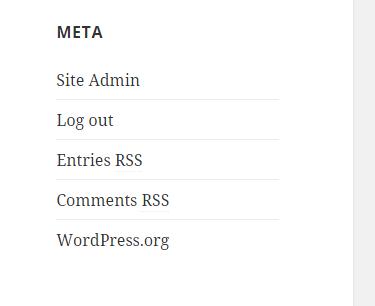 Making Changes to Meta Widget