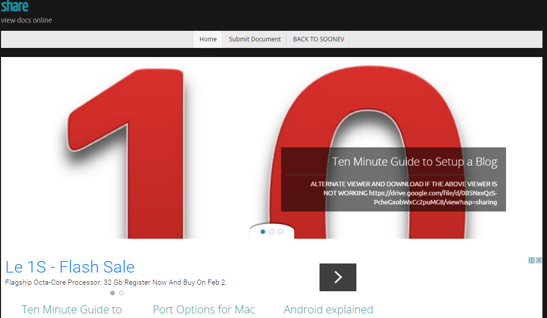 MainPage for SlideShare clone