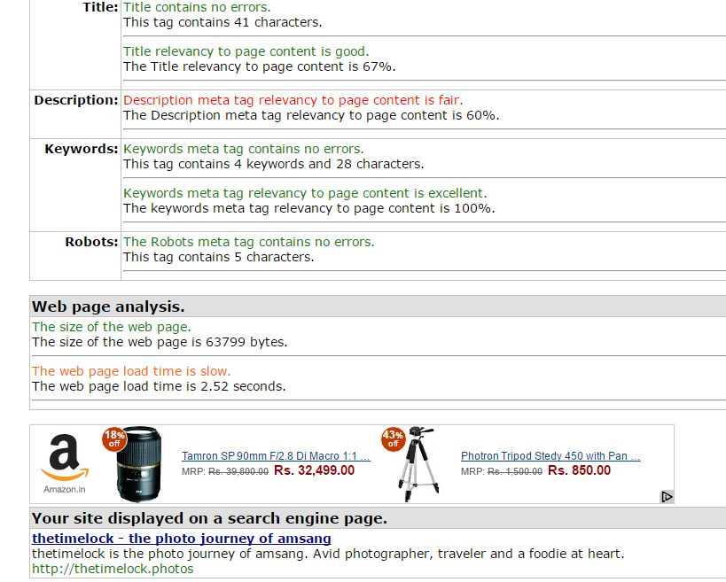 Meta Tag Analyzer : Understanding google search meta tags soonev