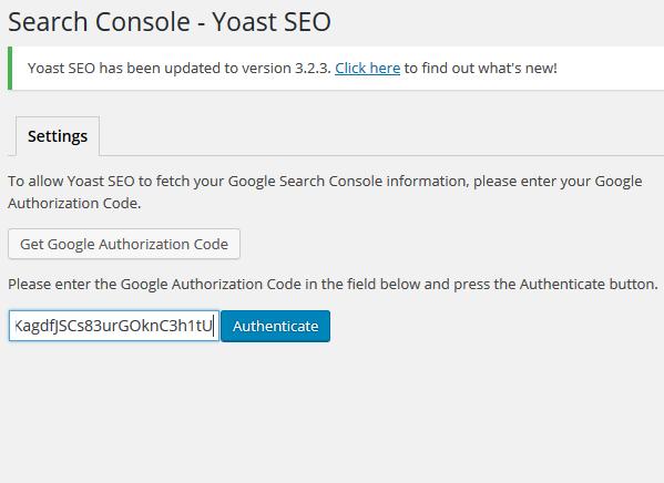 search console integration