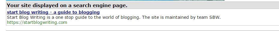 title and site description