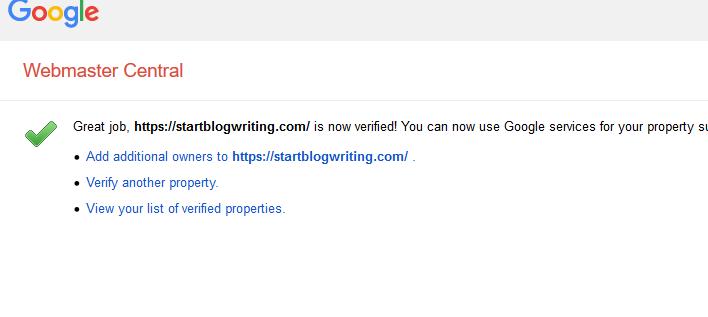 verification confirmation