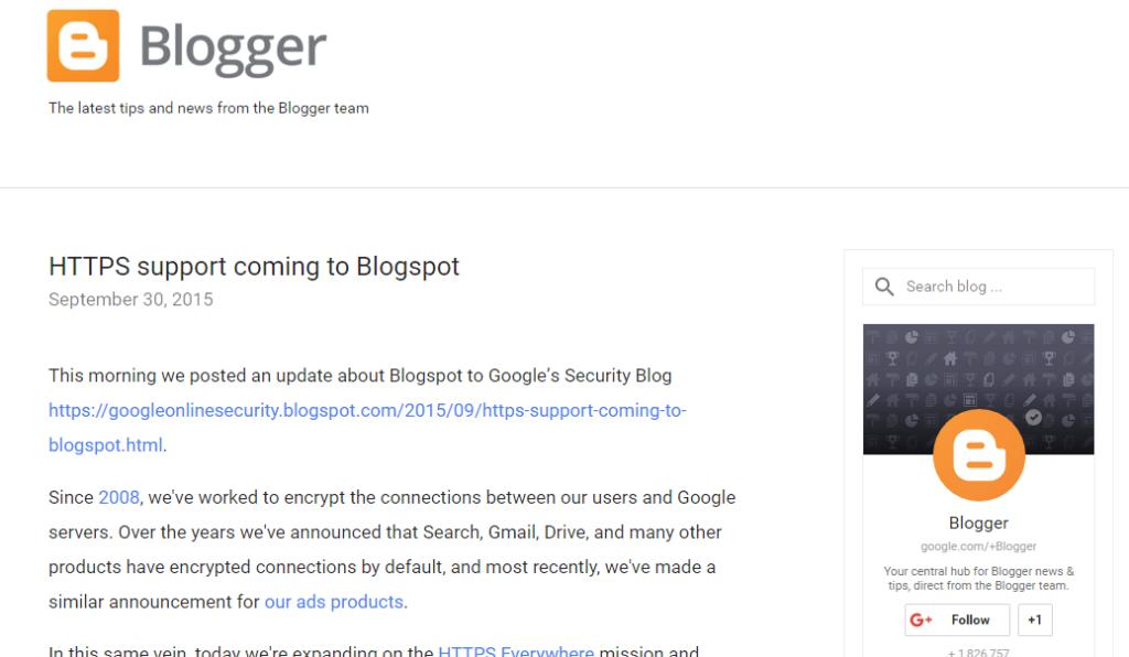 HTTPS for blogger
