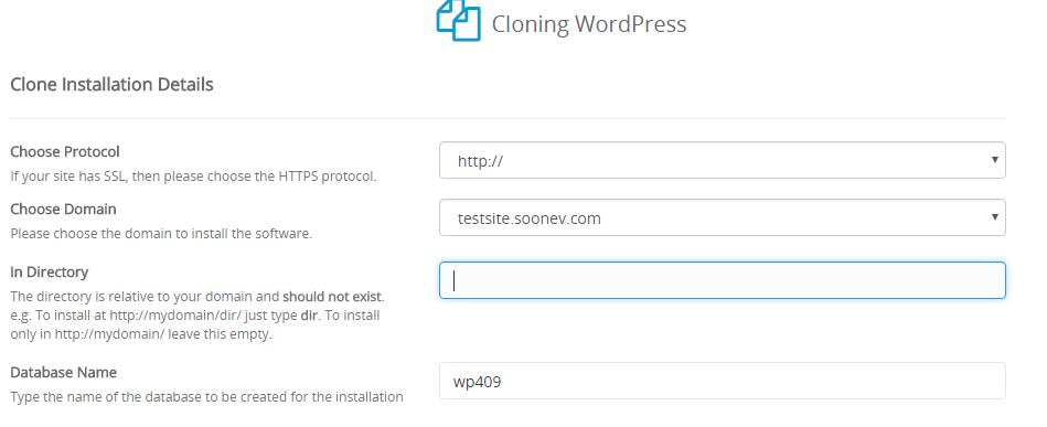 Cloning a WordPress installation