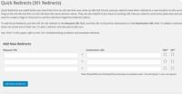 WordPress plugin Quick Page/Post Redirect