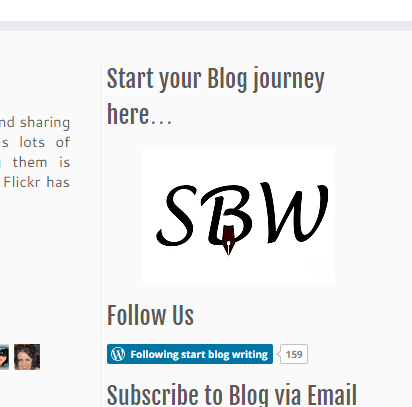clickable image in sidebar