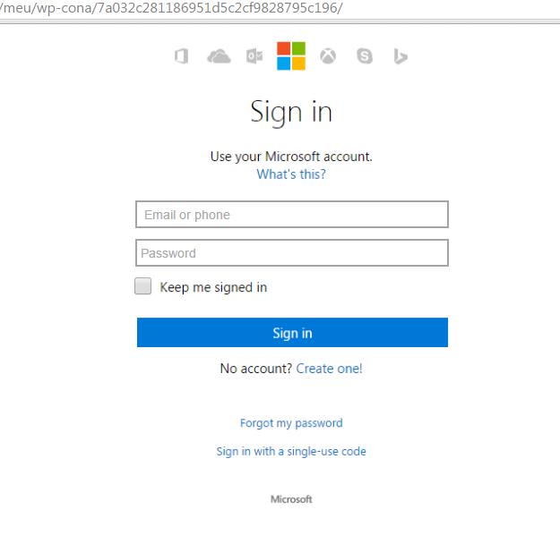 Yet another scam in name of Microsoft Account
