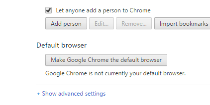 advanced setting for chrome