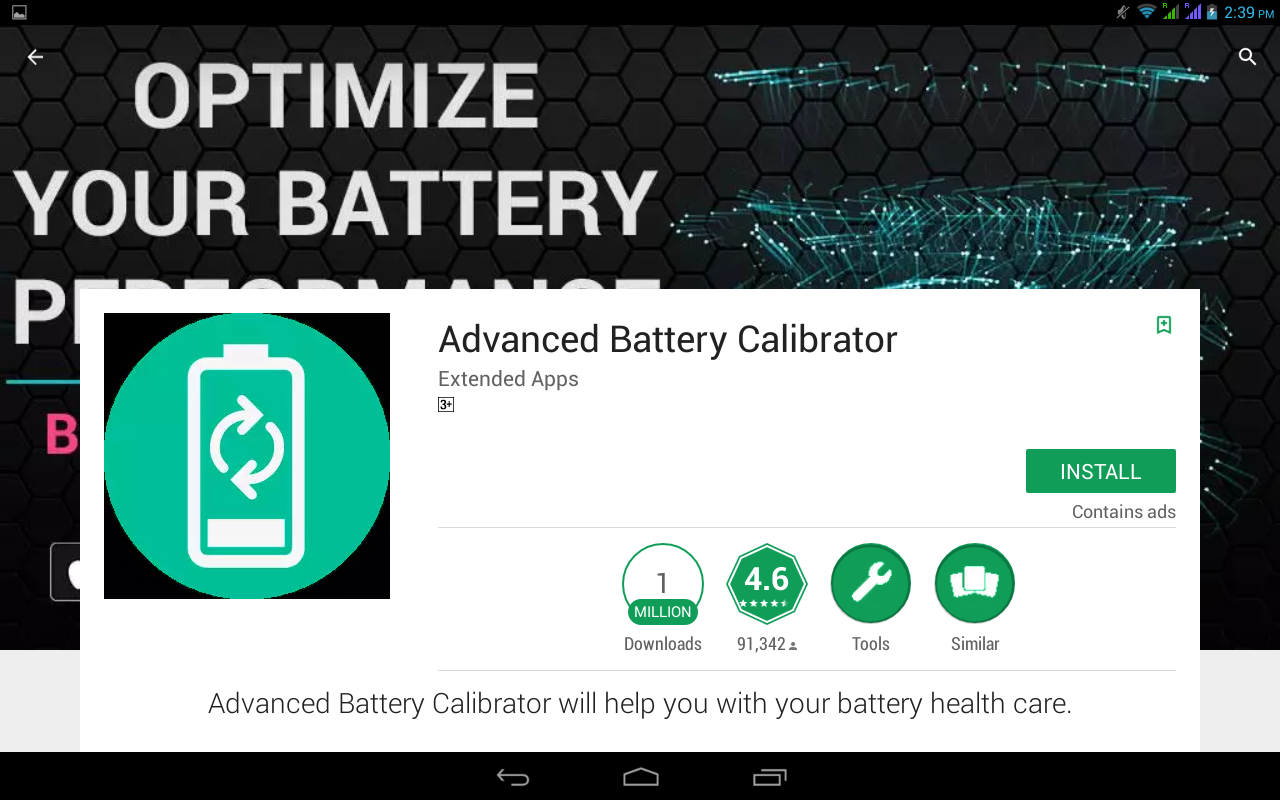 advanced battery calibrator