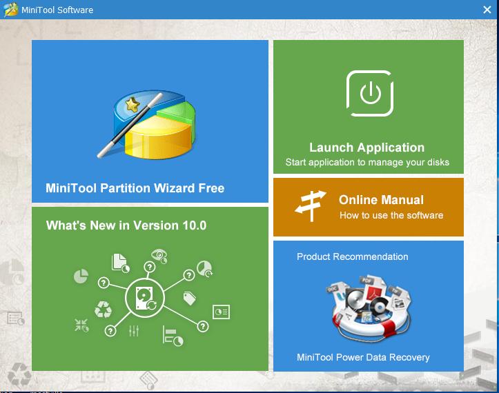 splash minitool partition tool free