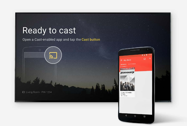 casting screen of chromecast 2