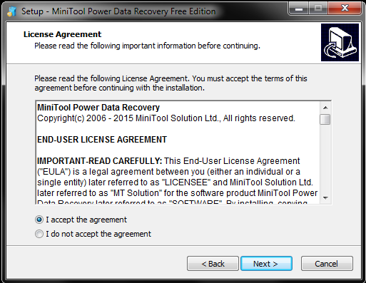 MiniTool Power Data Recovery Part I - Installation and