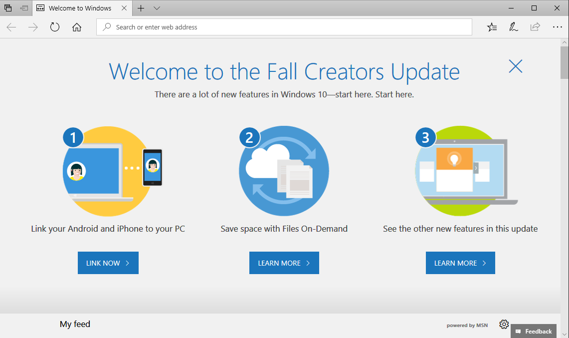 Windows 10 Fall Creators Update : Oct 2017