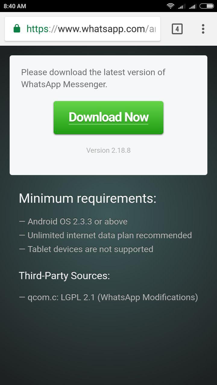 whatsapp update file
