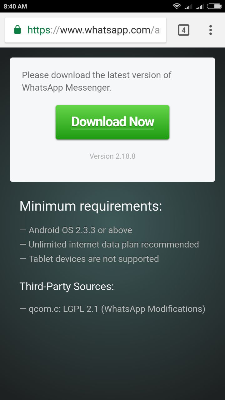 whatsapp update file